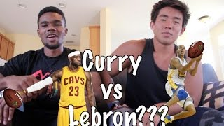 Friday Rivalry, Lebron James vs Stephen Curry in Football!?