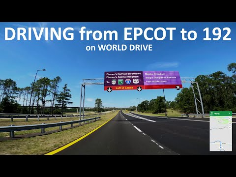 Driving from Epcot to Hwy 192 on World Drive at Walt Disney World