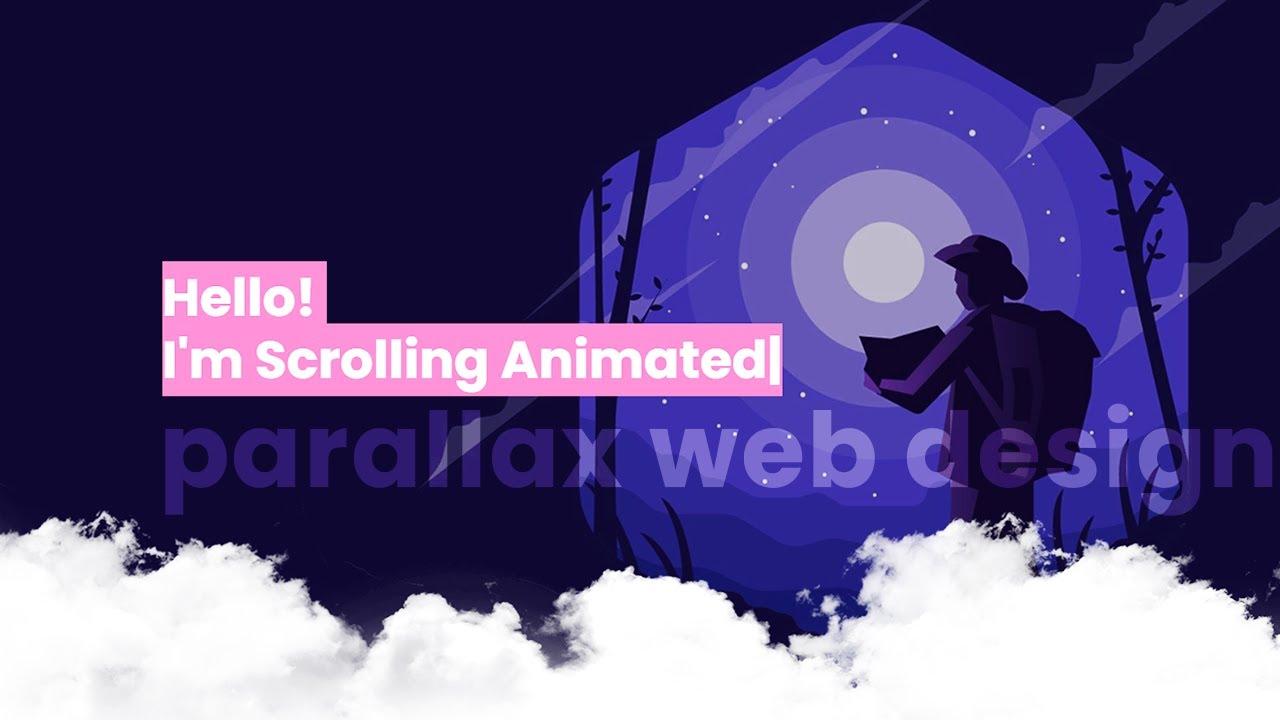 Parallax Scrolling Animated HTML Website Design Tutorial