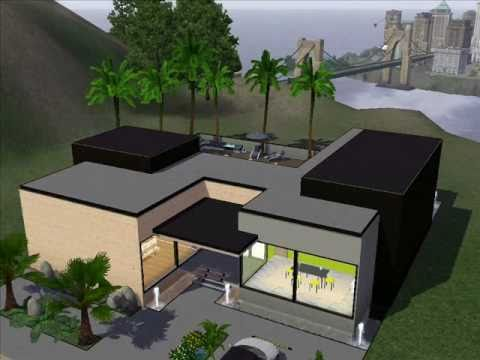 Sims 3 Modern House Design - YouTube