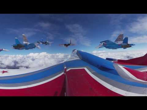 Fighter Jet Acrobatics 360: Flying aboard MiG-29 over Moscow in Victory Day Parade rehearsal