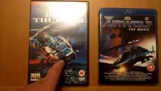 BLUE THUNDER dvd and AIRWOLF blu-ray