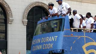 Golden State Warriors 2018 Championship parade downtown Oakland
