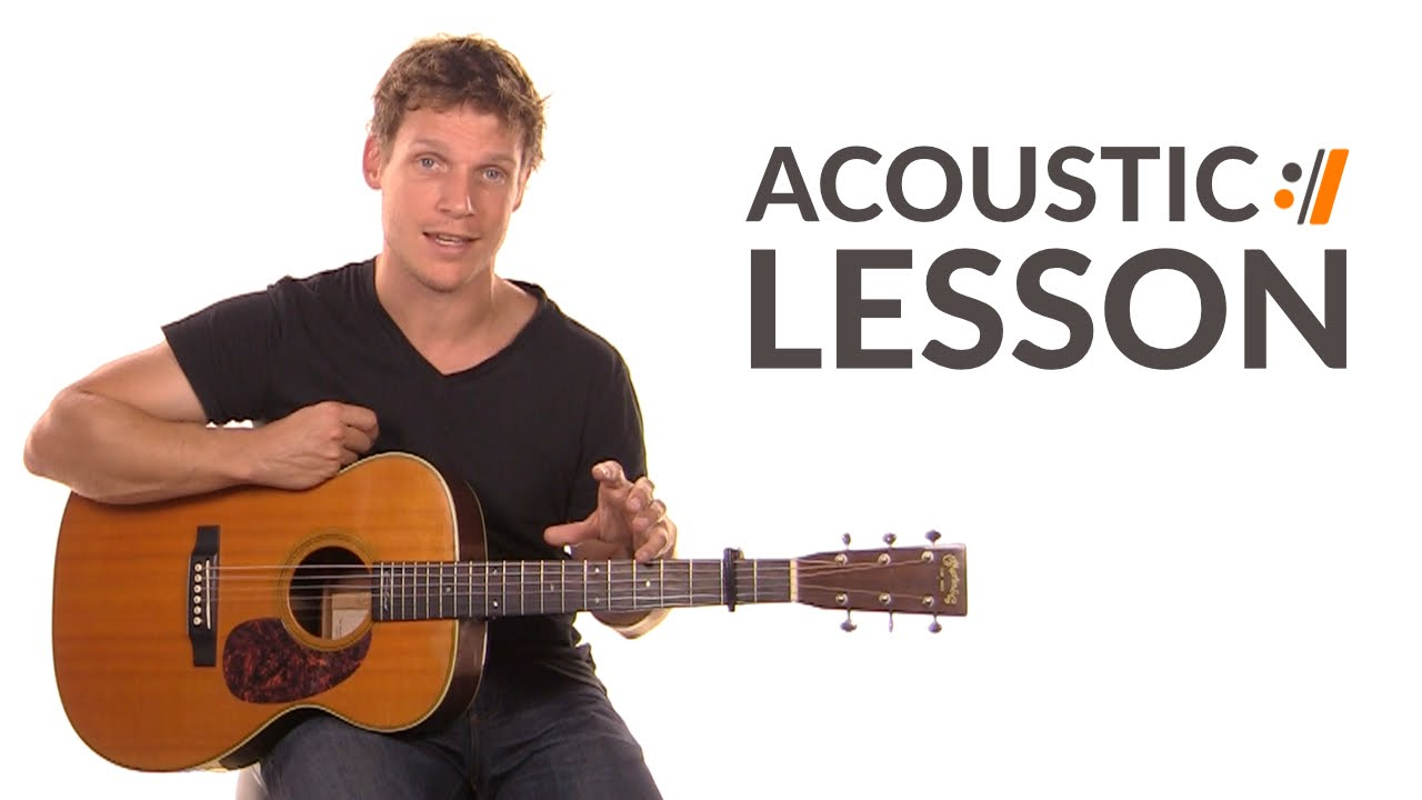 Learn how to play acoustic guitar   acoustic guitar lesson.