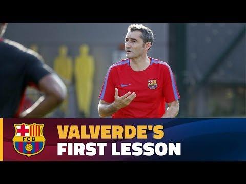 Ernesto Valverde takes the reins at Ciutat Esportiva