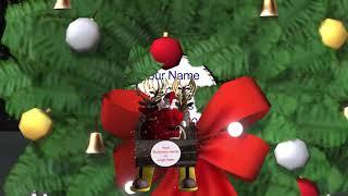 Animated Christmas Card. The Santa fly Through. For Business.