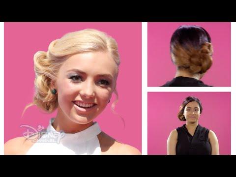 hair-tutorial-|-peyton-list-side-bun-✨-|-disney-channel-uk
