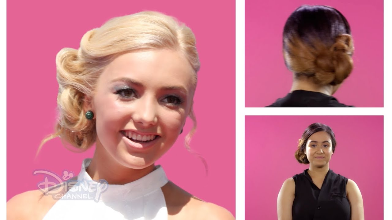 Hair Tutorial - Peyton List Side Bun - Official Disney Channel UK ...