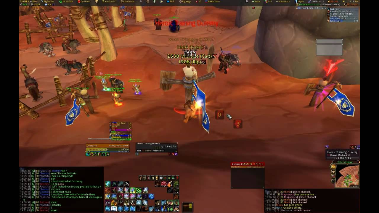 Cat Dps On Target Dummy Bad Kitty Example Youtube