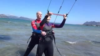 danish kite students www edmkpollensa com kitesurfing school mallorca wind kite lessons in Mallorca