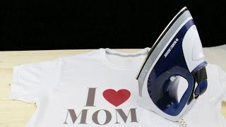 how to print any text on a t shirt in 5 mins using electric iron