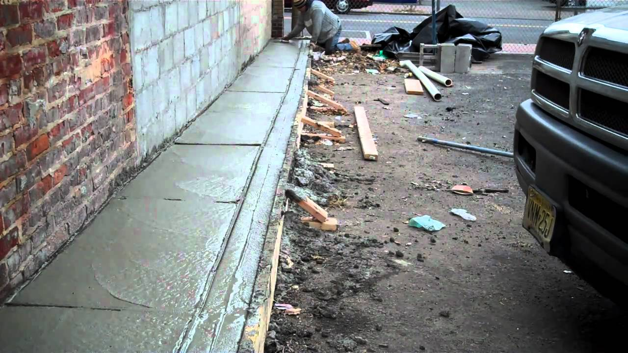 Concrete Curbs Apron And Handicap Ramp Youtube