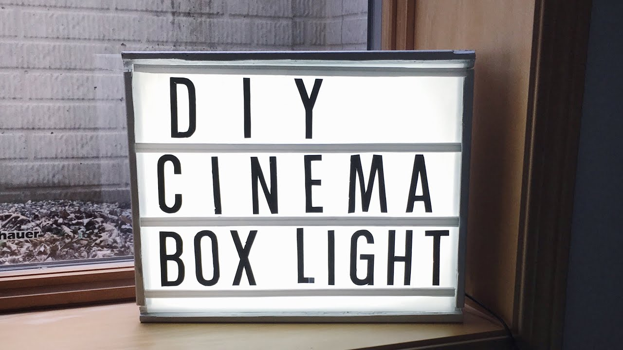 diy cinema light box youtube. Black Bedroom Furniture Sets. Home Design Ideas