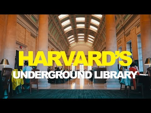 UNDERGROUND LIBRARY AT HARVARD!