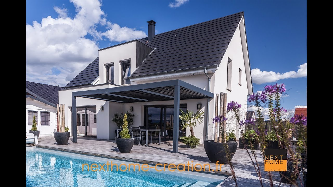 Nexthome création maison contemporaine et design toiture 2 pans