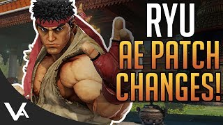 SFV - Ryu Patch Notes Explained! Balance Changes For Street Fighter 5 Arcade Edition