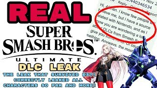 REAL Smash Ultimate DLC LEAK! THE LEAK THAT SURVIVED E3?! GOTTEN ALL CHARACTERS CORRECT SO FAR?!