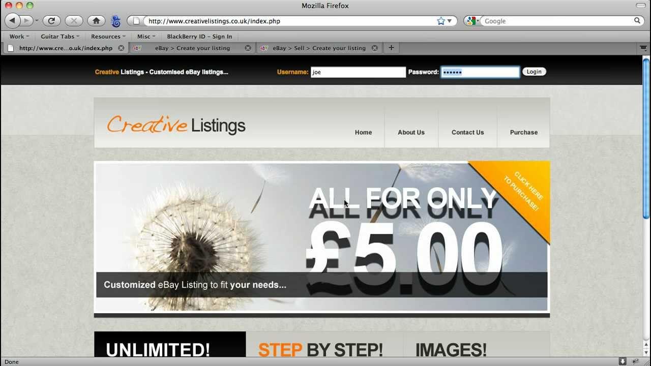 How to Make Custom eBay Listings - Creative Listings - YouTube