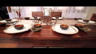 Arabia Expandable Dining Table Set