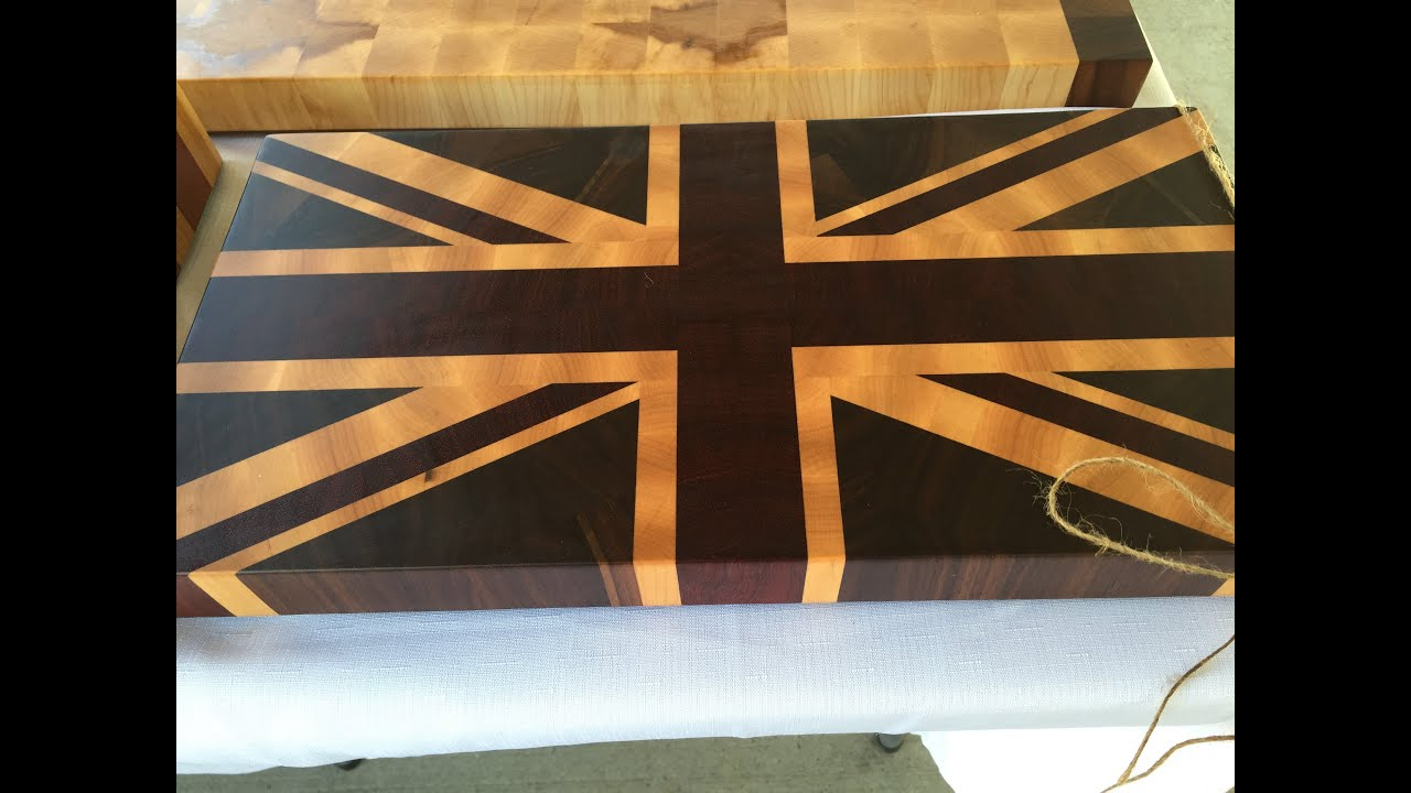 Robert Made It Union Jack End Grain Cutting Boards Youtube
