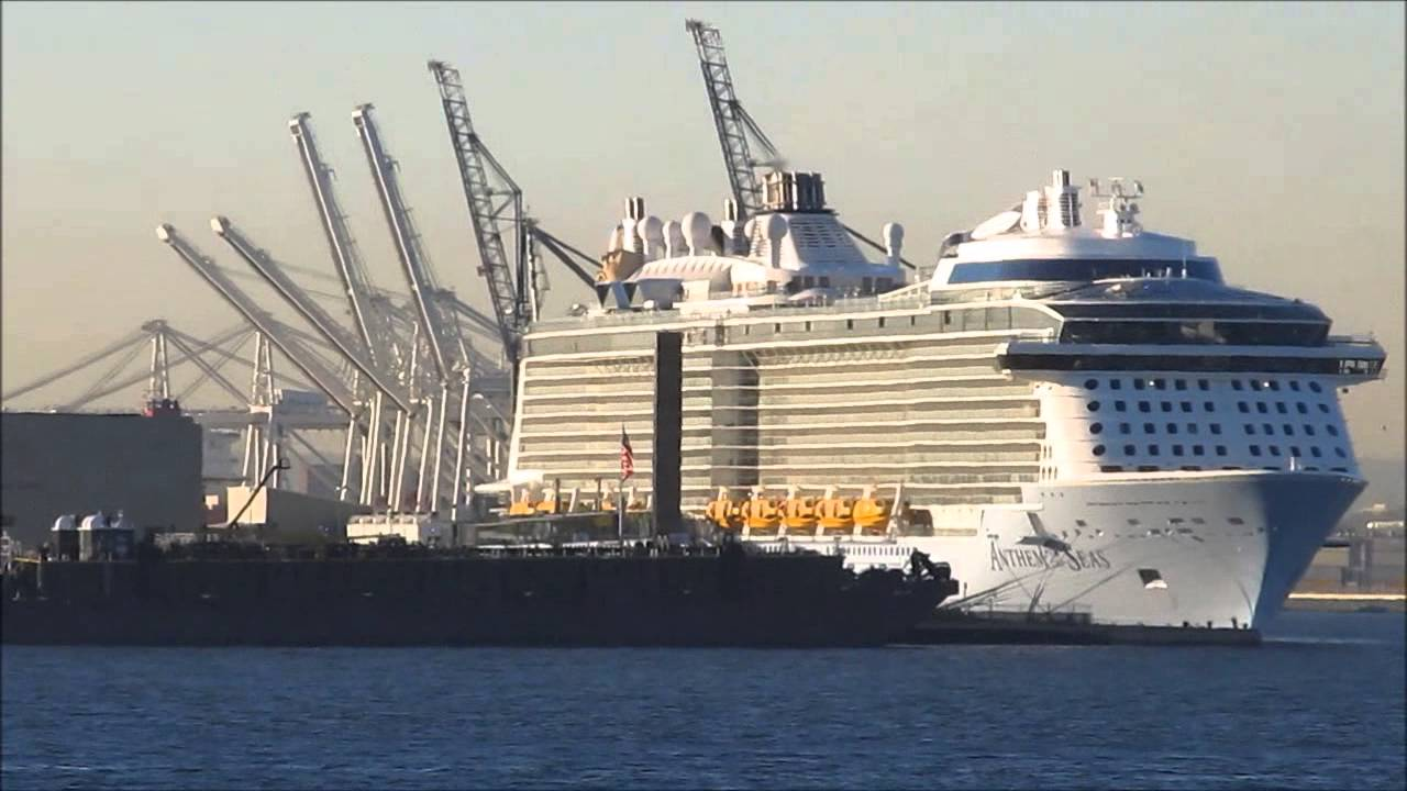 Royal Caribbean Cruise Ship Anthem Of The Seas On The Day Of Her Arrival At Cape Liberty