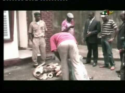 CRTV broadcast the arrest of ivory traffickers in Douala