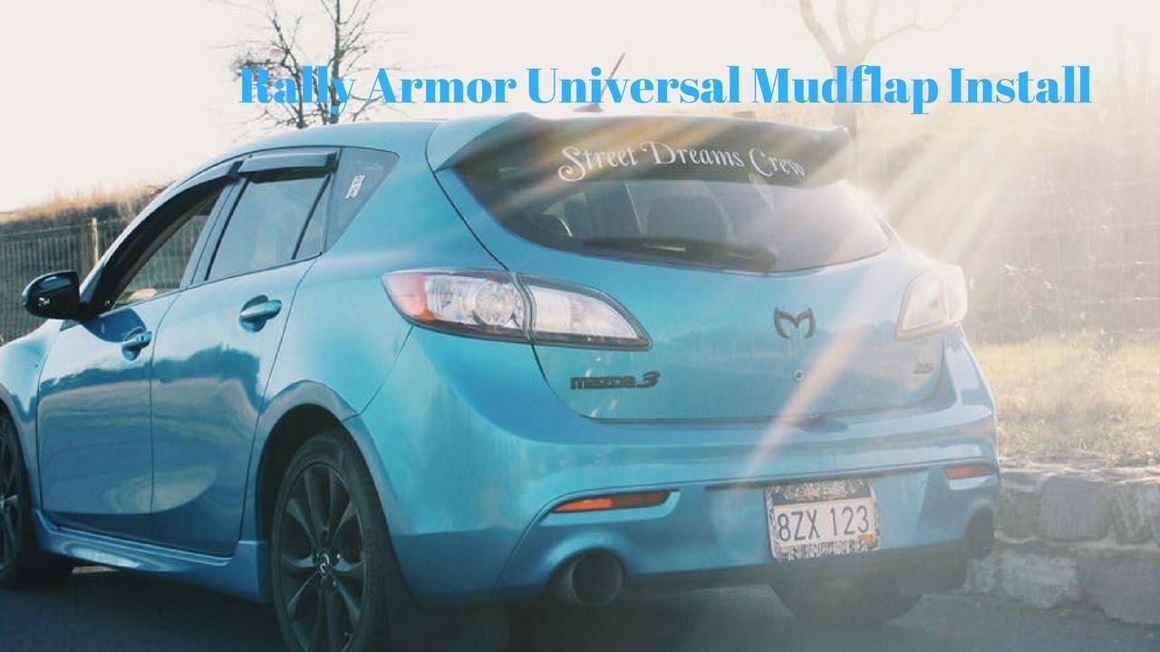 Putting Rally Armor Universal Mudflaps On My Mazda3