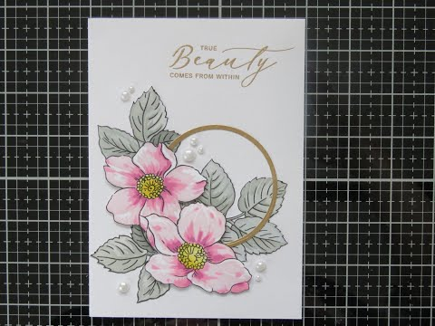 Beauty within using stamp and layered stencil