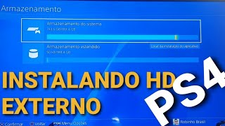Instalando HD EXTERNO no PS4