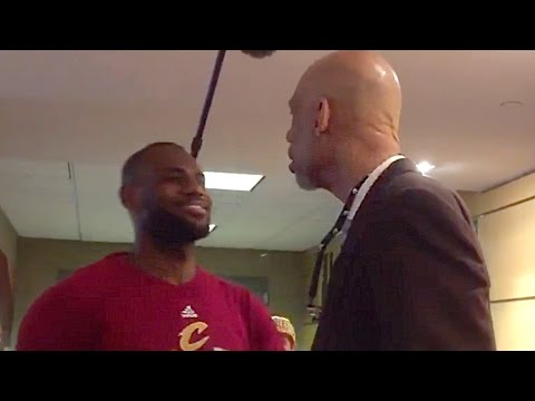 LeBron James Hugs Kareem Abdul Jabbar After Game 2