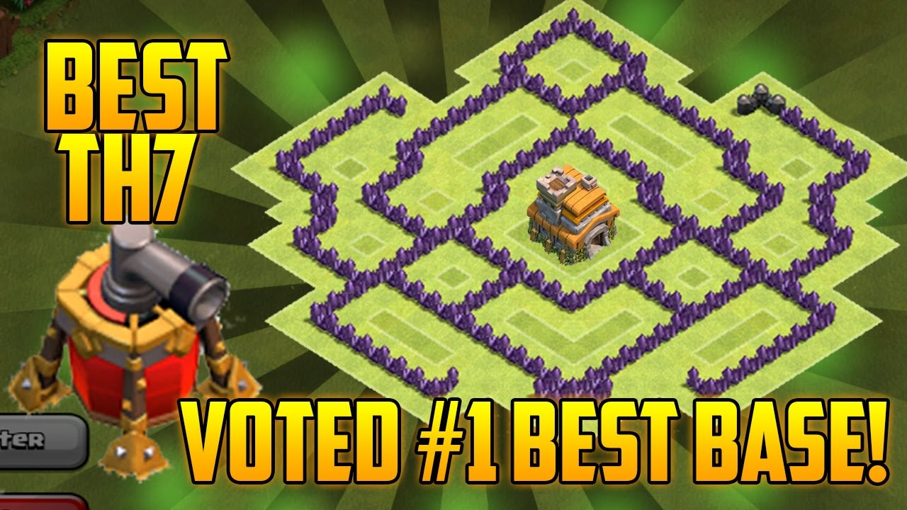 Coc Th7 Trophy War Base Best Town Hall 7 Defense With Air Sweeper Without Barbarian King Youtube