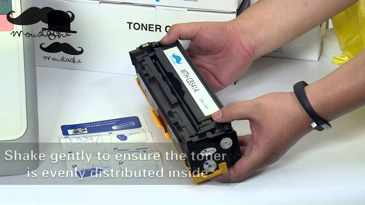 HP Color Laserjet CP1215 - Changing the cartridges - YouTube