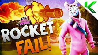 ROCKET FAIL! FUNNY MOMENTS! - Fortnite Battle Royale