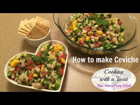 How To Make Ceviche - Tropical Fish And Shrimp Ceviche - Healthy Ceviche Recipe