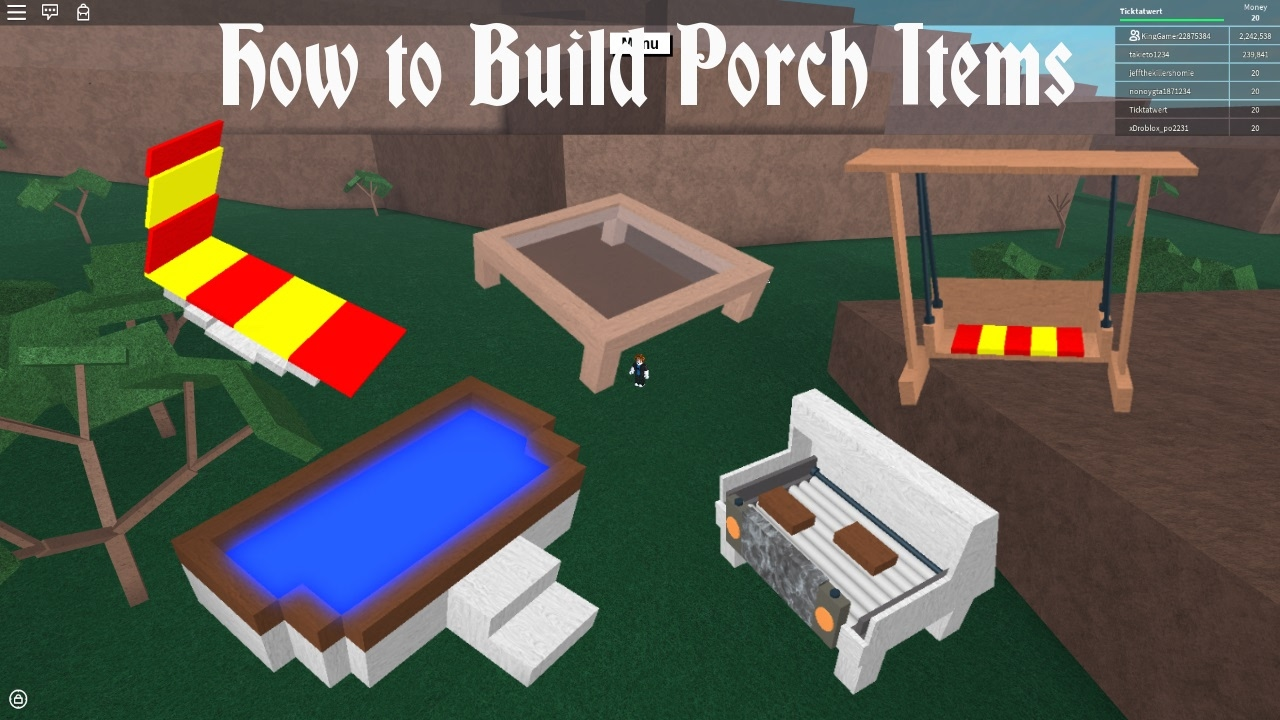 Lumber tycoon 2 | How to Build Porch Items - YouTube