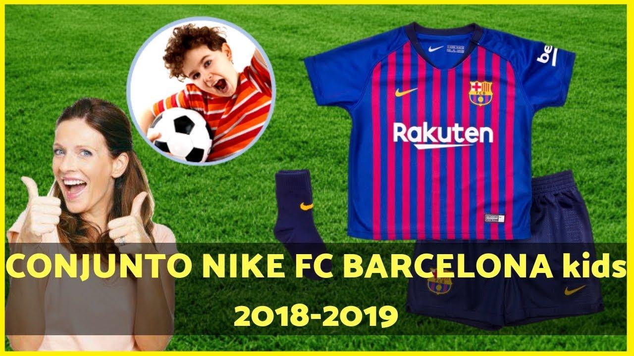 Uniforme Ninos del FC Barcelona Breathe 2018 2019 Conjunto barcelona Kids  2018-2019 90459243903