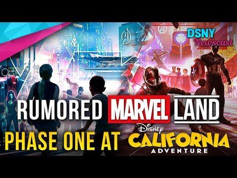 RUMORED Phase One Of MARVEL Land At Disney California Adventure - Disney News - 7/12/18