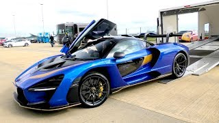 MCLAREN SENNA Special DELIVERY and RACED at Silverstone Track!