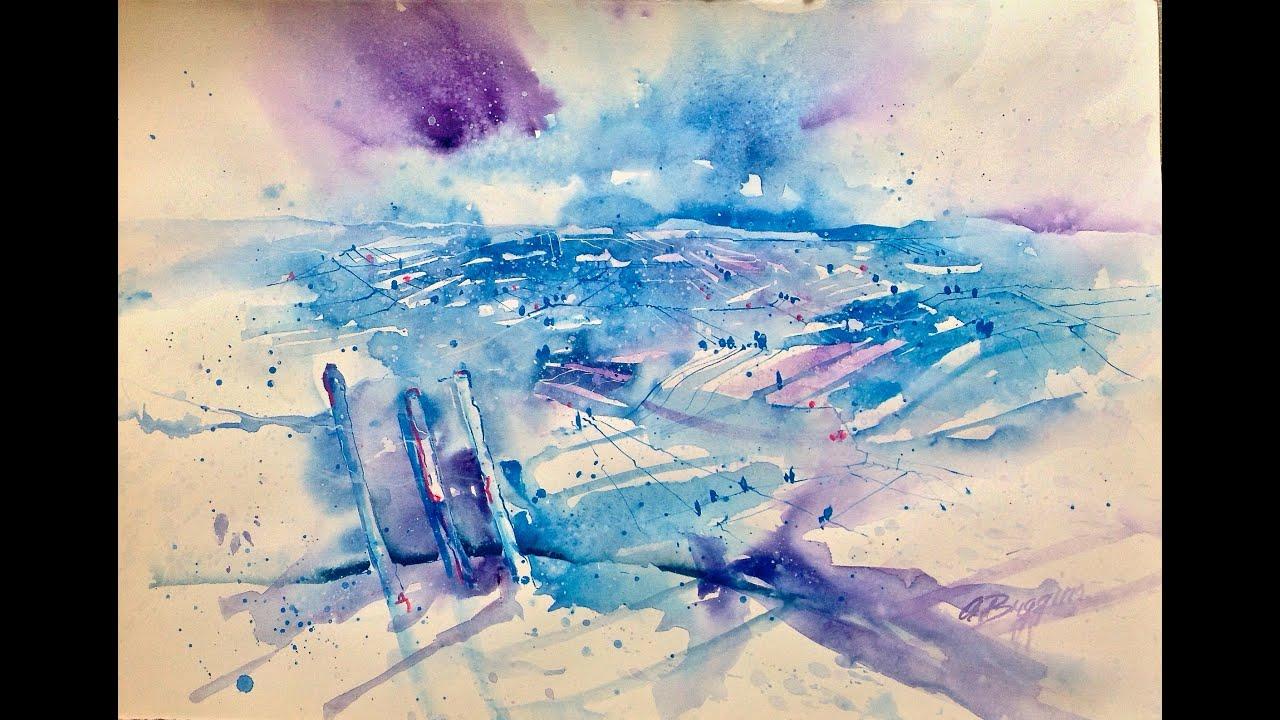 Paesaggio invernale acquarello  YouTube