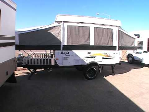 2006 Jayco Baja 10y Tent Trailer Toy Hauler Youtube