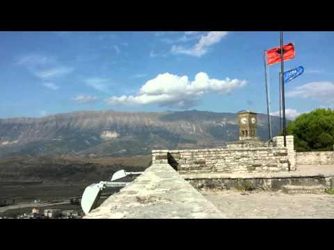 Gjirokastra Castle time lapse (Albania)