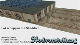 Transport Fever - Lokschuppen mit Sheddach [Modvorstellung]