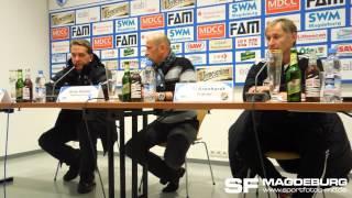 Pressekonferenz - 1. FC Magdeburg gegen VfB Germania Halberstadt 0:2 (0:0) - www.sportfotos-md.de
