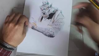 Drawing by Skin Lobuno FORTNITE