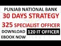 30 Days Complete Strategy for 325 Vacancies In PNB Specialist Officer | Download Ebook