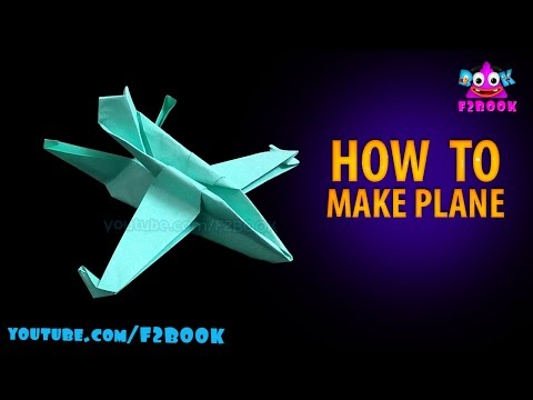 origami paper plane easy -  origami instruction by f2book