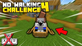Playing Hardcore Minecraft Without Walking - CHALLENGE (Part 4)
