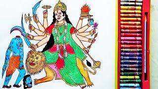 How to Draw Durga Devi Easily | Durga Mata Ki Drawing | By Drawing Art