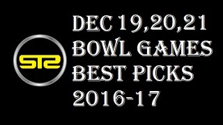 College Football Bowl Picks - Dec 19, 20, 21 2016 Predictions - Against The Spread - NCAAF 2016-17
