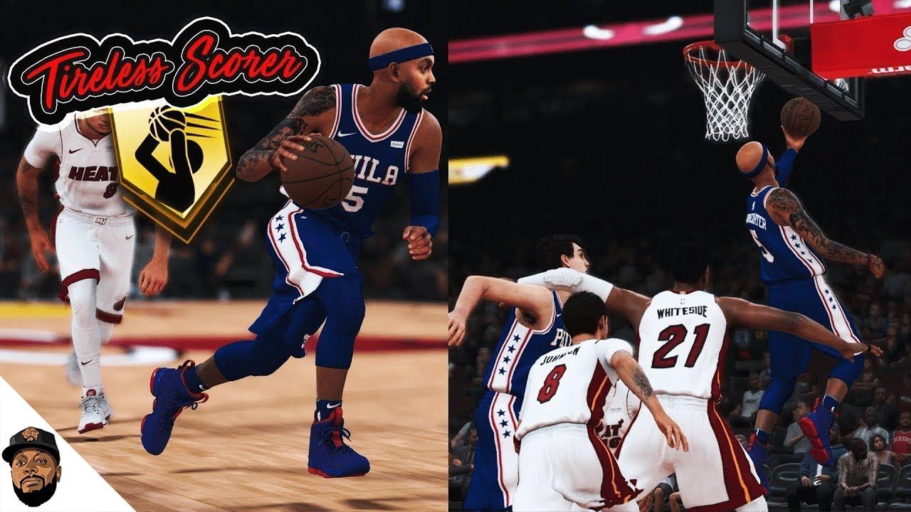NBA 2K18 MyCAREER - TIRELESS SCORER HALL OF FAME BADGE GRIND! I Got A New  House (PS4 Pro Gameplay). iPodKingCarter